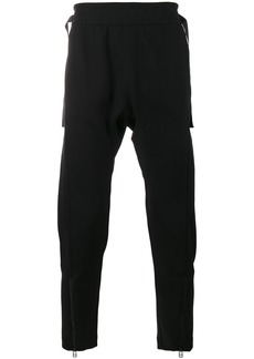 Helmut Lang drop crotch zip detail trousers - Black
