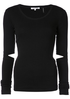 Helmut Lang elbow slits fitted sweater