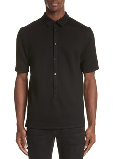 Helmut Lang Elongated Placket Polo