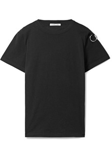 Helmut Lang Embellished printed cotton-jersey T-shirt