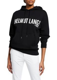 Helmut Lang Exclamation Mark Logo Drawstring Hoodie