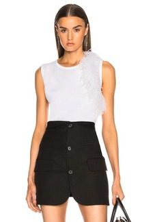 Helmut Lang Feather Tank Top