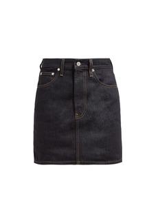 Helmut Lang Femme denim mini skirt