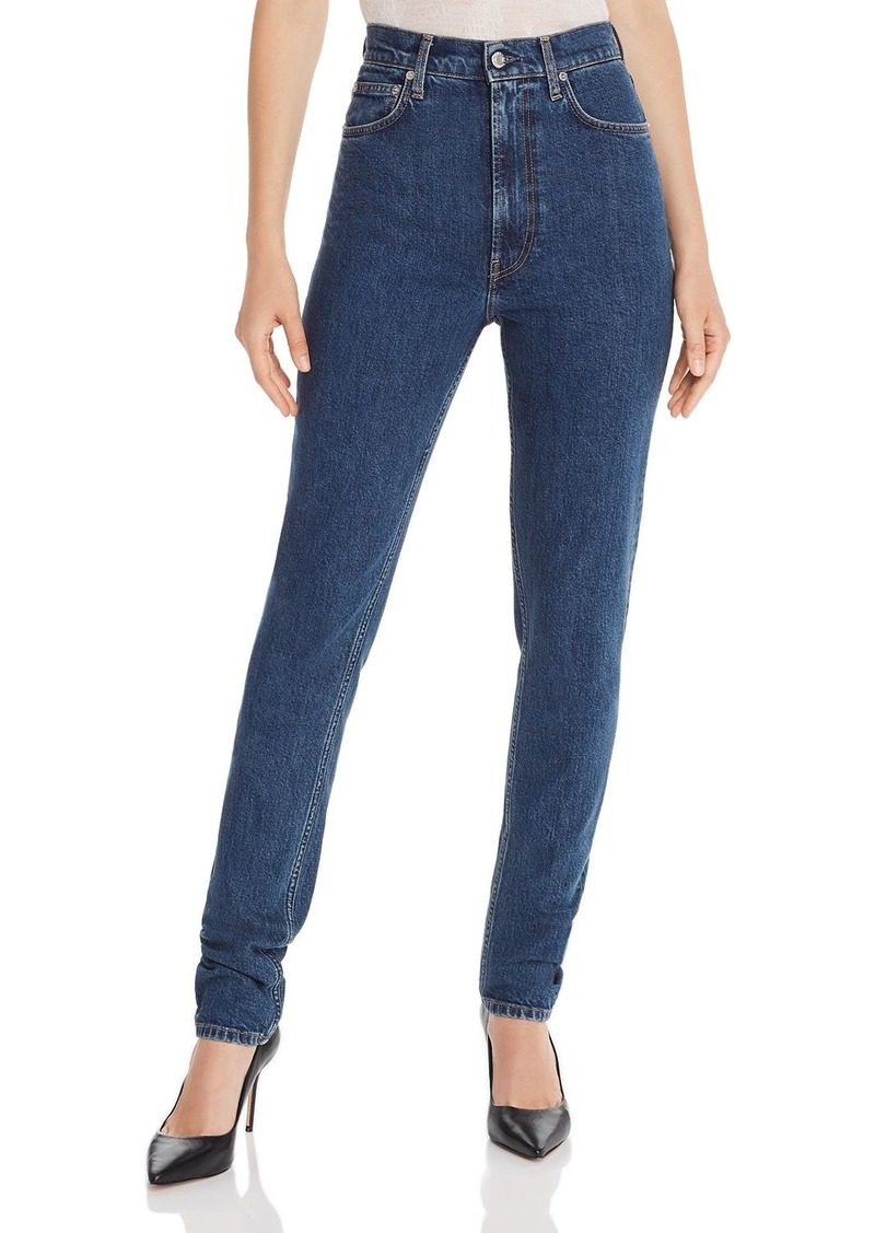Helmut Lang Femme Hi Spikes Jeans in Mid Stone