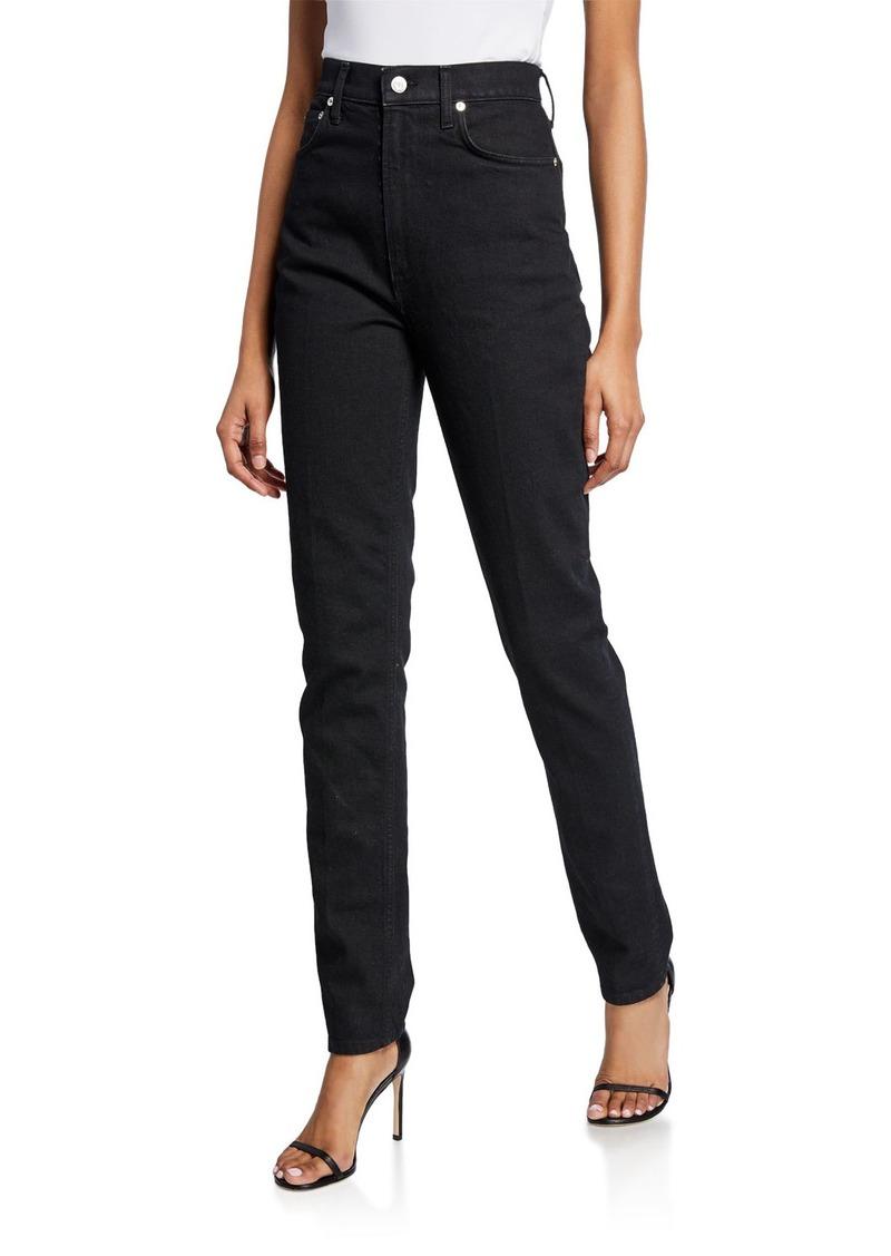Helmut Lang Femme Hi Spikes Straight-Leg Denim Jeans