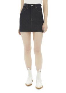 Helmut Lang Femme High-Rise Mini Denim Skirt