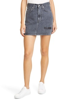 Helmut Lang Femme Utility Denim Miniskirt