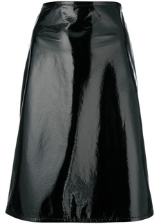 Helmut Lang fitted A-line skirt - Black