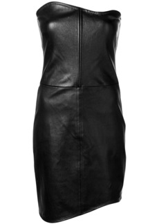 Helmut Lang fitted curved dress - Black