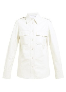 Helmut Lang Flap pocket leather shirt