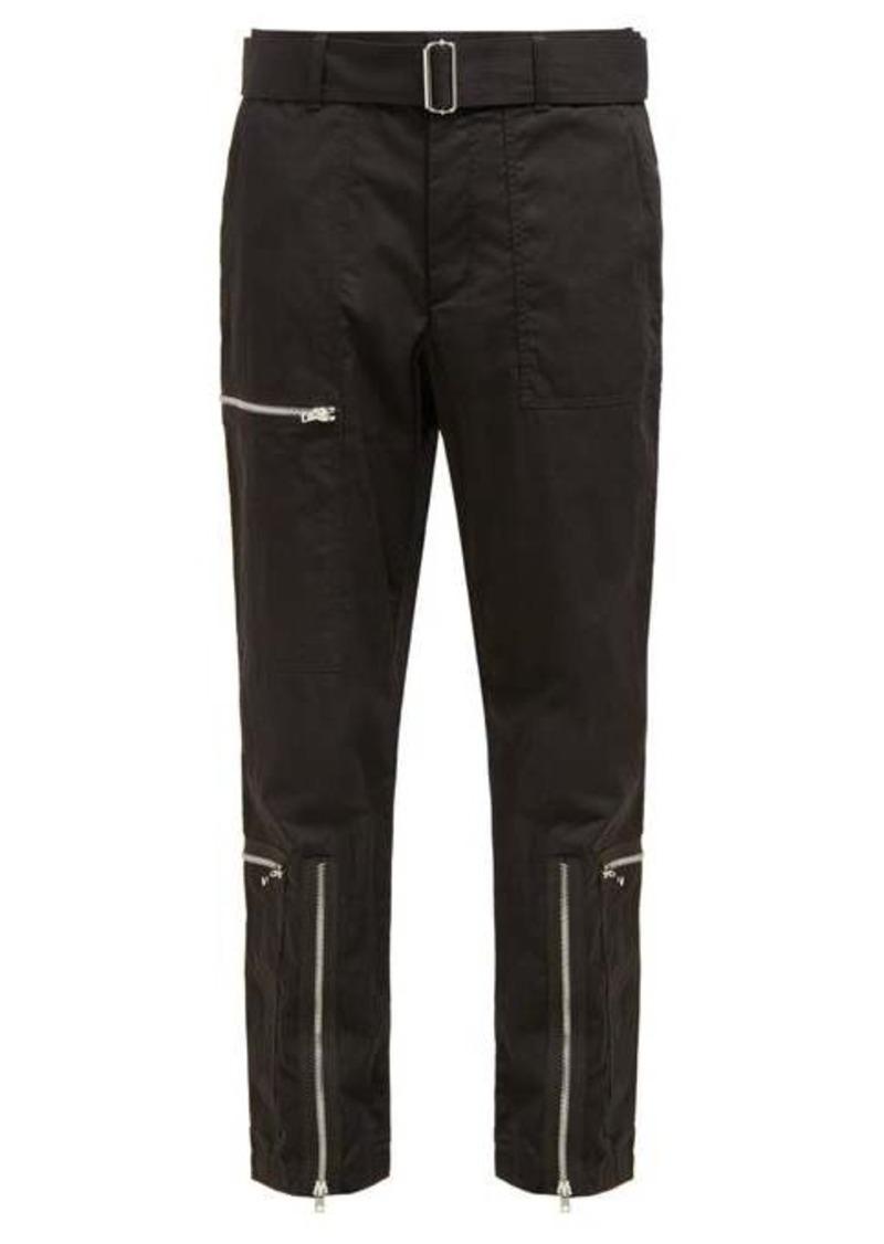 Helmut Lang Flight cotton-blend twill trousers
