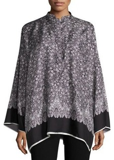 Helmut Lang Floral Silk Kimono Top