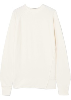 Helmut Lang Frayed cotton-jersey sweatshirt