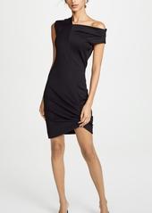 Helmut Lang Front Drape Dress