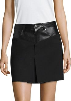 Helmut Lang Garter Mini Skirt