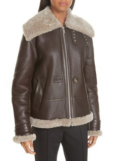 Helmut Lang Genuine Shearling Aviator Jacket