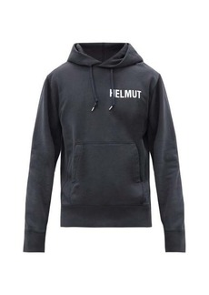 Helmut Lang Glowcore printed cotton jersey hooded sweatshirt