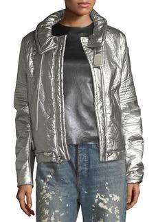 Helmut Lang Helmut Lang Re-Edition Astro Metallic Zip-Front Moto Jacket