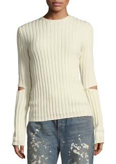 Helmut Lang Helmut Lang Re-Edition Crewneck Ribbed Elbow-Cutout Sweater