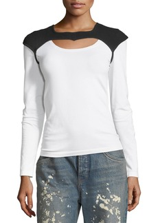 Helmut Lang Helmut Lang Re-Edition Saddle Holster Long-Sleeve Tee