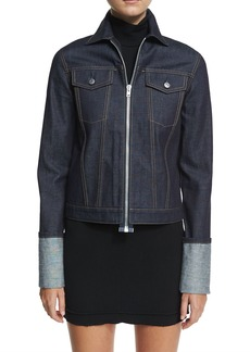 Helmut Lang Helmut Lang Re-Edition Zip-Front Folded-Cuffs Denim Jacket