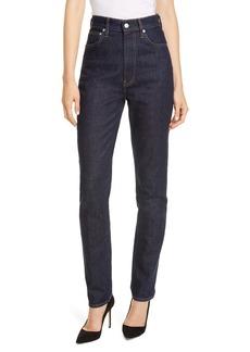 Helmut Lang Hi Spikes High Waist Straight Leg Jeans