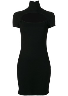 Helmut Lang high neck cutout dress - Black