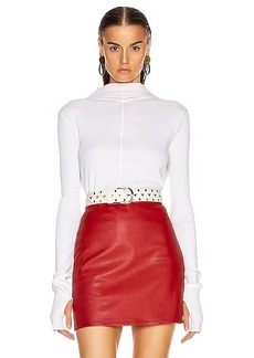Helmut Lang High Neck Rib Top