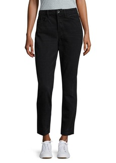 Helmut Lang High-Rise Cropped Cotton Jeans