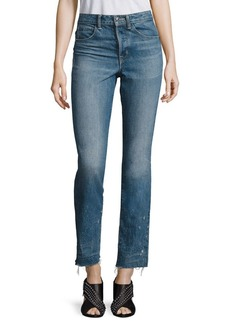 Helmut Lang High-Rise Cropped Jeans
