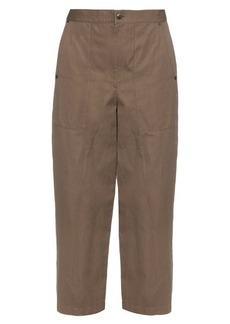 Helmut Lang High-rise wide-leg cotton and linen-blend trousers