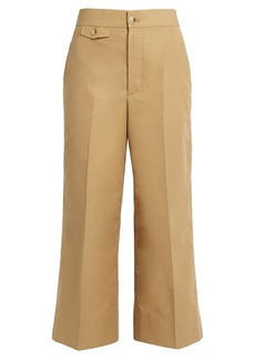 Helmut Lang High-rise wide-leg cotton-faille trousers