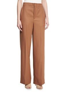 Helmut Lang High-Rise Wool Twill Pants