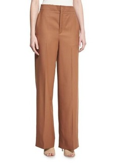 Helmut Lang High-Rise Wool Twill Pants