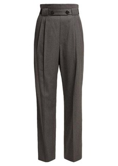 Helmut Lang High-rise wool-twill trousers
