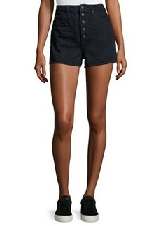 Helmut Lang High-Waist Denim Shorts