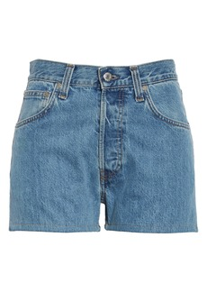 Helmut Lang High Waist Denim Shorts