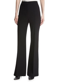 Helmut Lang High-Waist Pintuck Flared Pants