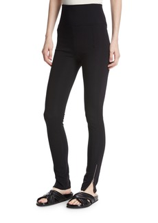 Helmut Lang High-Waist Technical Zip Leggings