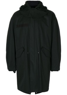 Helmut Lang hooded parka coat - Black