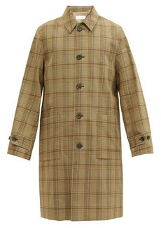 Helmut Lang Houndstooth-check twill car coat