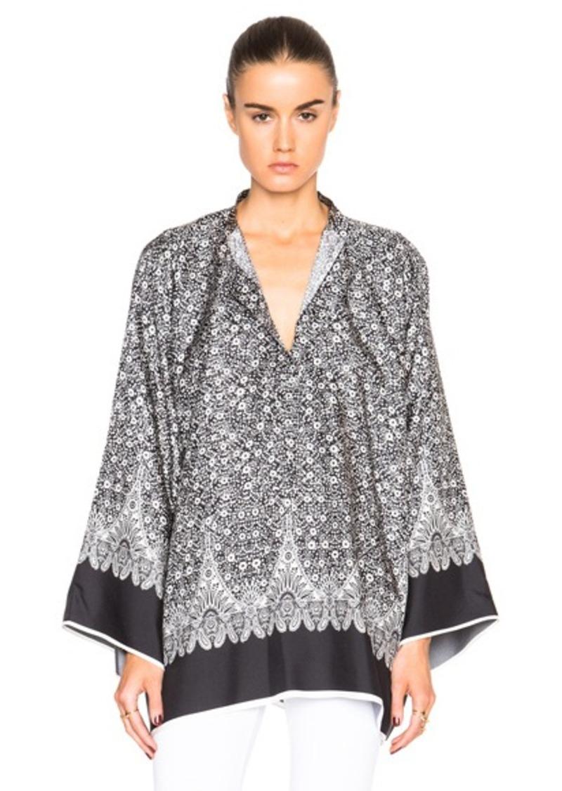 Helmut Lang Kimono Floral Top
