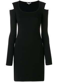 Helmut Lang knitted cut-out dress - Black