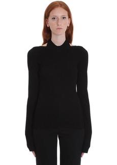 Helmut Lang Knitwear In Black Viscose