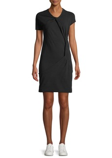 Helmut Lang Knot Twisted Crewneck Tee Dress