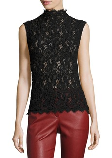 Helmut Lang Lace Embossed Shell Top