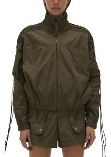 Helmut Lang Lace Mock Neck Jacket