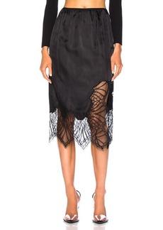 Helmut Lang Lace Slip Skirt