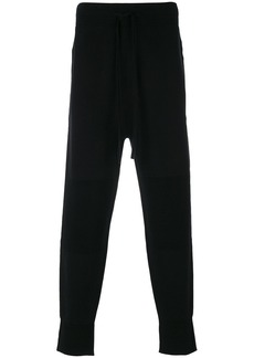 Helmut Lang lateral zip sweatpants - Black