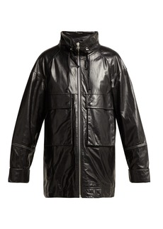 Helmut Lang Leather anorak jacket